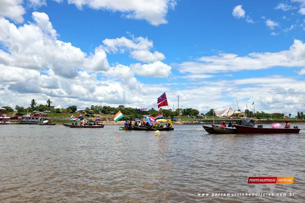 Embarcações atracadas na Manifestação contra Cota Zero