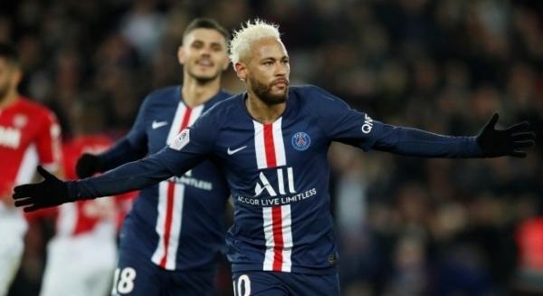 Os dois gols de Neymar não foram suficientes para que o PSG vencesse o Monaco REUTERS/Gonzalo Fuentes - 12.01.2020