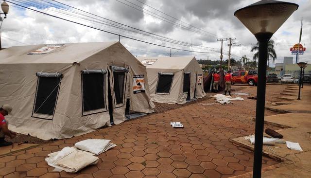A logística foi montada pelo Corpo de Bombeiros. (Foto:Divulgação).
