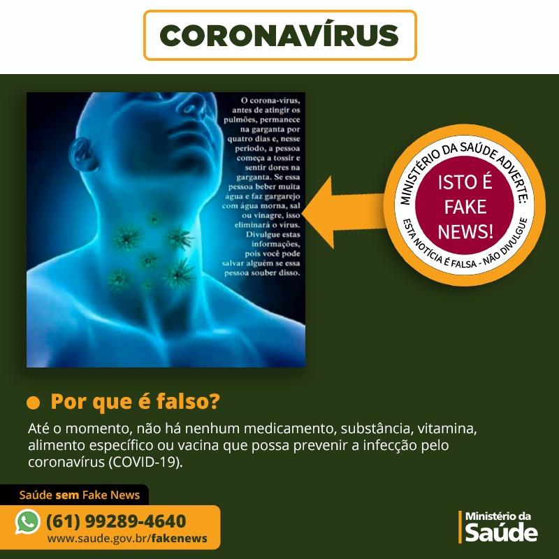 É fake! Beber água a cada 15 minutos para molhar a garganta não previne contra o coronavírus