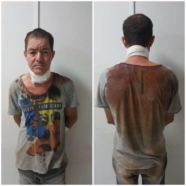 Filho é preso após matar mãe com golpes de facão e diz que não lembra de cometer crime