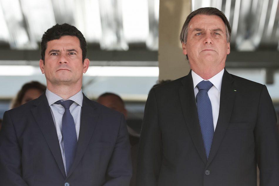 Ex-ministro Sergio Moro e Jair Bolsonaro (Agência Brasil)