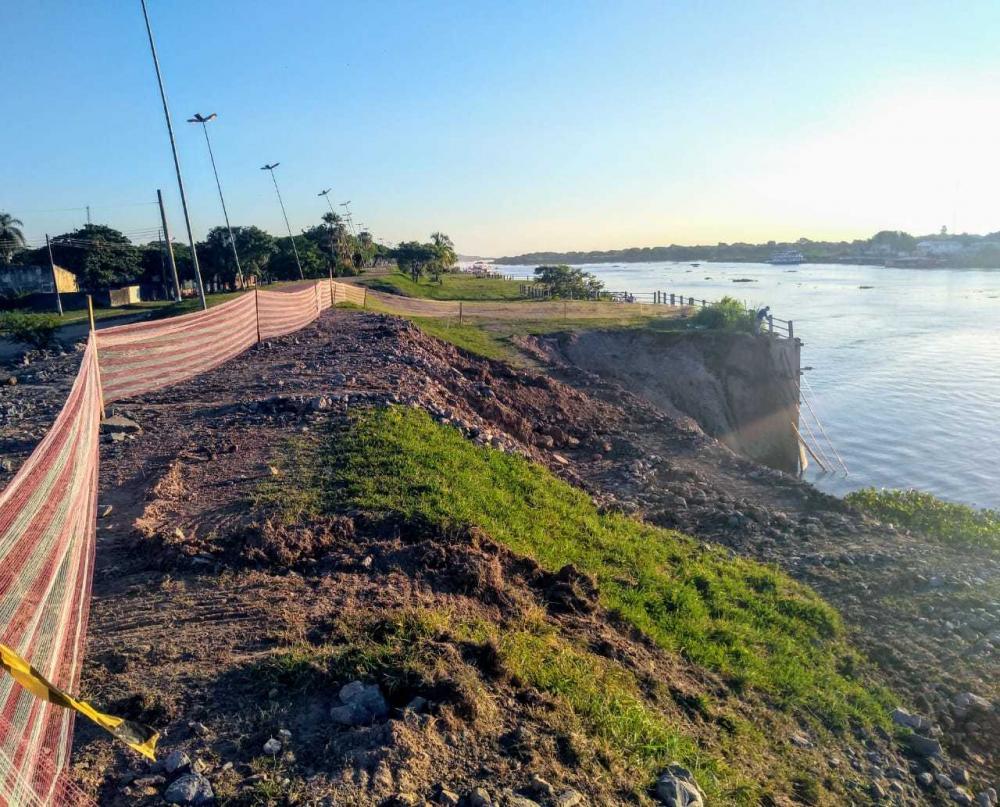 Após 7 meses, começam obras para recuperação do dique em Porto Murtinho