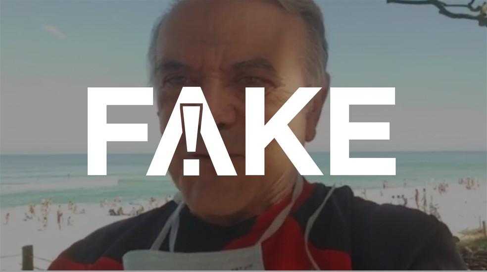 É #FAKE que uso de máscara de proteção faça mal à saúde tornando o sangue mais ácido — Foto: Reprodução